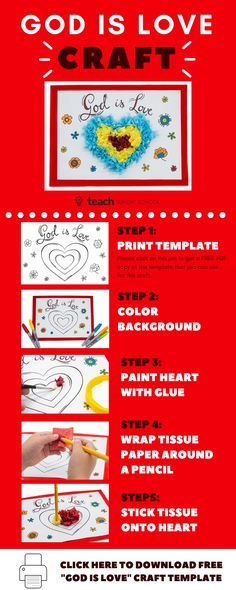 c1637963a5e FREE Valentine s Day Bible Craft Template