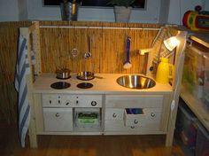 kinderküche aus einem alten stuhl | basteln | pinterest - Kinder Küche Selber Bauen