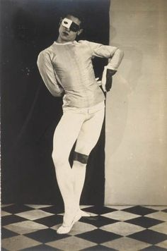 "Ballet dancer Serge Lifar in ""Romeo and Juliet"", 1926 // Man Ray"