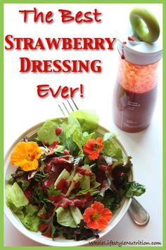 The Best Organic Strawberry Dressing Recipe Ever! | WholeLifestyleNutrition.com