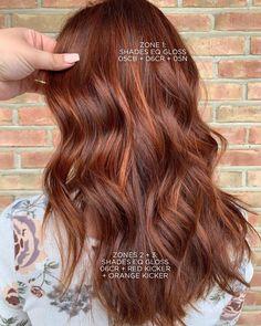 Shades Of Red Hair, Red Hair Color, Burgundy Brown Hair, Auburn Balayage, Best Hair Stylist, Hair Color Formulas, Hair Toner, Hair Color Techniques, Hair Painting