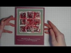 Acrylic Block Stamped Background Card  - YouTube. Wow this is really ugly but I like the idea of using inchies like this. Just make a prettier background