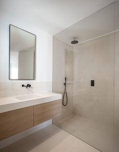 PP Apartment - Jorge Bibiloni Studio - Interior Design Mallorca Minimalist Bathroom Design, Bathroom Design Luxury, Modern Bathroom Design, Minimalist Home, Modern Bathrooms, Brown Bathroom, Small Bathroom, Studio Interior, Apartment Interior