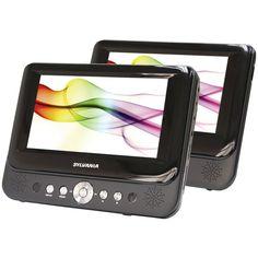 SYLVANIA SDVD8737A 7 Dual-Screen Portable DVD Player