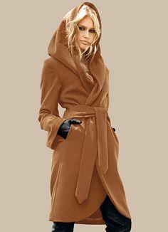 Пальто-халат (59 фото): с поясом, с чем носить пальто халатного типа, с капюшоном, пальто как халат 2016, с какой обувью носить, короткое