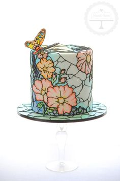 Celebration Cakes | Sweet Love Cake Couture - looks like china or stained glass window