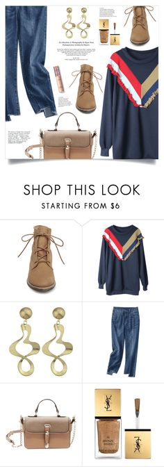 """""""Chic"""" by mahafromkailash ❤ liked on Polyvore featuring Steve Madden, Avenue and Yves Saint Laurent"""