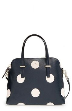Kate Spade New York 'Cedar Street Dot - maise' satchel | Nordstrom | Shopswell. Peppy polka dots define a streamlined satchel shaped with an elegantly arcing silhouette. An optional strap adjusts to the perfect length for crossbody convenience.