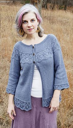 Lorinda by Alison Green. Free on Ravelry US 6 & US 4 Needles
