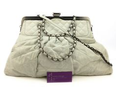 CHANEL 2way Bag White Colour Calfskin With Ruthenium Hardware Good Condition Ref.code-(KYRL-1)