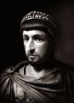 Theodosius II (401-450), commonly surnamed Theodosius the Younger, or Theodosius the Calligrapher, was Byzantine Emperor from 408 to 450. He is mostly known for promulgating the Theodosian law code, and for the construction of the Theodosian Walls of Constantinople. He also presided over the outbreak of two great christological controversies, Nestorianism and Eutychianism.
