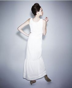 Alberta Ferretti for Impulse Dress, Sleeveless Scoop Neck Lace Tiered Maxi - Womens Dresses - Macy's