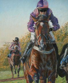 Horses Race Over Hurdles By Karen Earth Website Clikpic