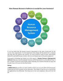 How Human Resource Software is useful for your business?