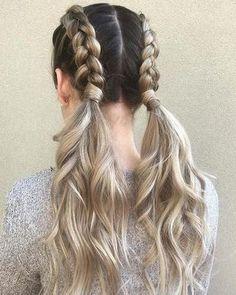 Easy Summer Hairstyles, Cute Braided Hairstyles, Teen Hairstyles, Box Braids Hairstyles, Pretty Hairstyles, Straight Hairstyles, Black Hairstyles, Formal Hairstyles, Dyed Hair