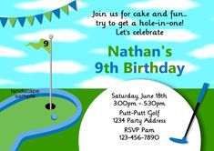 Mini golf party invitation its time to par teendons turning boys golf party invitation mini golf birthday party by jcsaccents filmwisefo