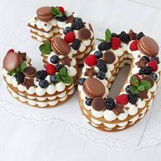 80 Birthday Cake, Birthday Ideas, 30 Cake, Number Cakes, Beautiful Dream, Sweet Recipes, Panna Cotta, Sweet Treats, Cheesecake