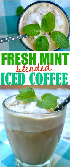 Fresh Mint Blended Iced Coffee- Make The Best of Everything Target Mint Coffee, Iced Coffee, Coffee Drinks, Summer Drinks, Fun Drinks, Alcoholic Drinks, Cold Drinks, Beverages, Healthy Smoothies
