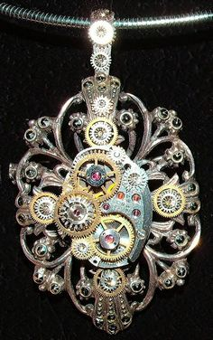 Steampunk pendant.thought you would like this.