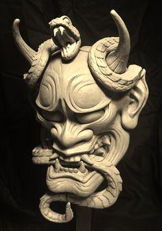 japanese tattoos for men Hannya Mask Tattoo, Hanya Tattoo, Japanese Tattoo Art, Japanese Tattoo Designs, Samurai Tattoo, Samurai Art, Mascara Hannya, Hannya Maske, Japanese Demon Mask