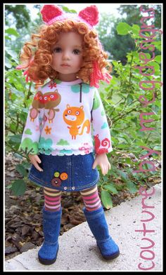 """Trendy Togs with Boots for Dianna Effner 13"""" Little Darlings by M E G Designs   eBay"""