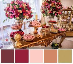 Fall Wedding Colors, Red Wedding, Wedding Day, Baby Girl Shower Themes, Spa Party, Gold Flowers, Pink And Gold, Floral Arrangements, Wedding Decorations