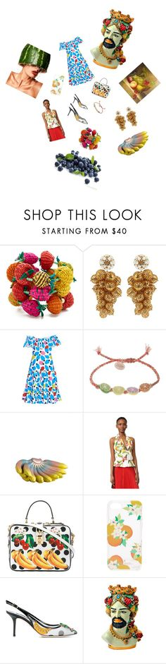 """""""Fruit Fashion..**"""" by yagna ❤ liked on Polyvore featuring Mercedes Salazar, Dolce&Gabbana, Isolda, Venessa Arizaga, Pols Potten, Kate Spade and Sicily & More"""