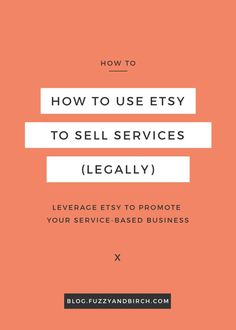 Use Etsy to Sell Services: Do you catch yourself wishing you could open an Etsy shop? …Even though the artsiest thing you do is draw stick figures killing each other, and you don't even have the patience to sew a goddamn button back onto your favorite jacket?