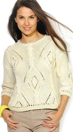 Smetanový svetřík Kateřina | PLETENÍ – NÁVODY Crochet Top, Spring Summer, Turtle Neck, Pullover, Wool, Sweaters, Pattern, Fashion, Templates