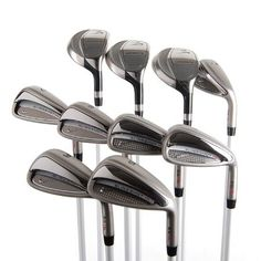 New Nike Slingshot HL Ladies Iron Set 3H,4H,5H,6-SW w/ Graphite Shafts.    Buy New:$259.99  Deal by: ProGolfShoppers.com Ladies Golf Clubs, Golf Clubs For Sale, Slingshot, Nike, Graphite, Lady, Iron, Graffiti, Steel