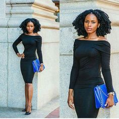Gorgeous Curls Can Make the Little Black Dress Pop - http://community.blackhairinformation.com/hairstyle-gallery/natural-hairstyles/gorgeous-curls-can-make-little-black-dress-pop/