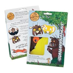 Oh Help! Oh no! It's a Gruffalo and a Mouse. Who is the scariest creature in the woods? Open up the packet and find out. These masks are great fun to play with.