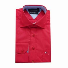 Tommy Hilfiger Long Sleeve Dress Shirts Red Free Shipping Red Shirt Dress, Long Sleeve Shirt Dress, Dress Shirts, Tommy Hilfiger Shirts, Dresses With Sleeves, Free Shipping, Mens Tops, Fashion, Moda