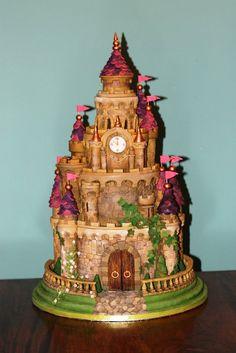 Castle wedding cake - by Zoe's Fancy Cakes @ CakesDecor.com - cake decorating website