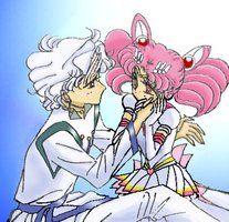 Helios and Eternal Sailor Chibi Moon - Sailor Moon