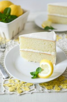 A homemade lemon cake that's swimmin' in lemon aka Swimmin' in Lemon Cake.