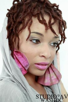 Love it! Short colored locs...I wander how long it will take for mines to get this long?