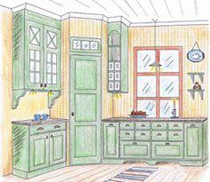 Home Decor Kitchen, Kitchen Interior, Home Kitchens, Swedish Kitchen, Country Kitchen, Corner Pantry, Kitchen Pantry, Kitchen Ventilation, Bar Interior Design
