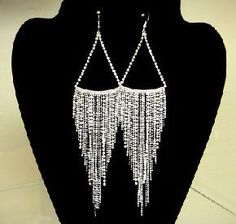 Basketball Wives Celebrity Inspired Chandelier Rhinestone Earrings