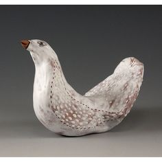 Morgan  Ceramic Sculpted Bird by Jenny Mendes by jennymendes