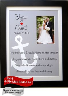 The Art of Marriage Poem Anchor Wedding Gift: Unique Newlywed ...