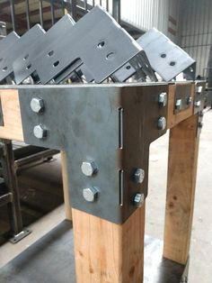 """Set of 8! Heavy Duty Shop Table Corner Brackets!  Made From 1/8"""" Plate Steel In The USA!"""