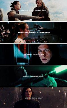 Actually I dont ship it but its cute. Star Wars Quotes, Star Wars Humor, Star Wars Ships, Star Wars Art, Star Wars Party Favors, Mark Hamill Luke Skywalker, Kylo Ren And Rey, Star Wars Kylo Ren, Star War 3