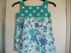 Linda's Crafty Corner: Little Party Dress (strawberry patch pattern from Linda Permann)