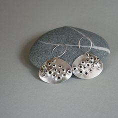 Barnacle & Seaweed Earrings by metalchick on Etsy, $70.00