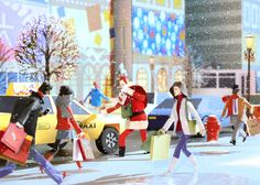 Holiday rush on Behance