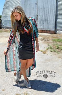 Desperado Duster Desparado Duster Crazy Train Clothing is trendy, affordable, super cute & now available at Western Soul! Get your favorite style today! Western Outfits Women, Western Wear For Women, Country Outfits, Crazy Train Clothing, Western Chic, Fashion Outfits, Womens Fashion, Fashion Capsule, Dress To Impress