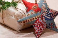 Ideas para el hogar: Almohada en forma de estrella con restos de género...
