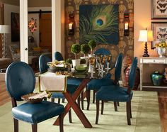 Glam and then some. #diningroom