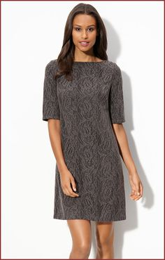 Adrianna Papell Lace Shift Dress for Petite | Lace Dress